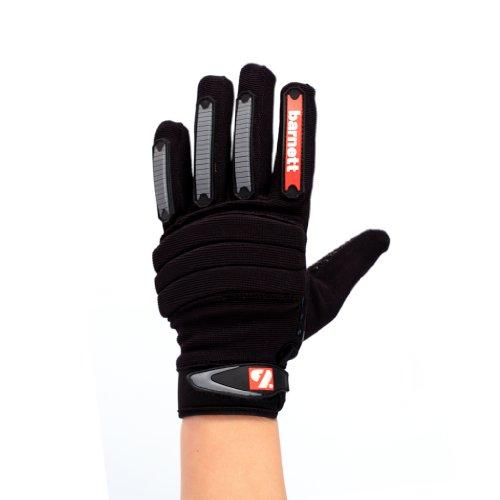 FKG-02 American Football Handschuhe Linebacker fit, schwarz, LB,RB,TE (S)