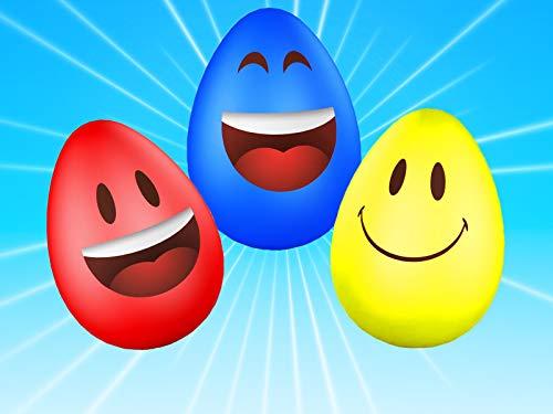 Lernen Sie Farben und Autos mit Eiern