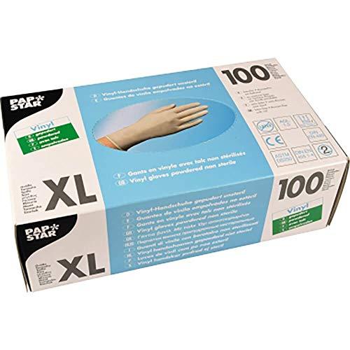 PAPSTAR Einweghandschuhe XL Gepudert Weiß 100 Stück