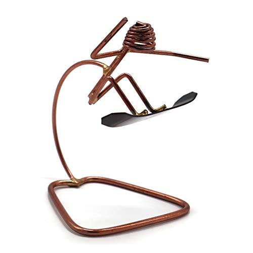 Snowboard Jumping Collectible Handmade Metal Art Figurine, Desk Accessories, Trophy, Boss Gift, Office Décor, Outdoor Sports , Snowboarding