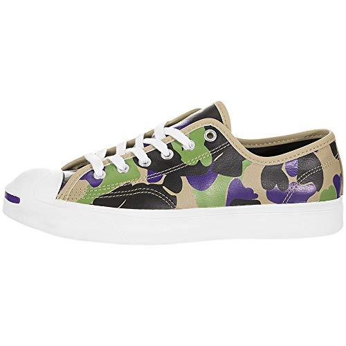 Converse x Jack Purcell OX Echtleder-Schuhe Coole Herren Low Top-Sneaker Freizeit-Schuhe Skater-Schuhe Camouflage, Größe:44