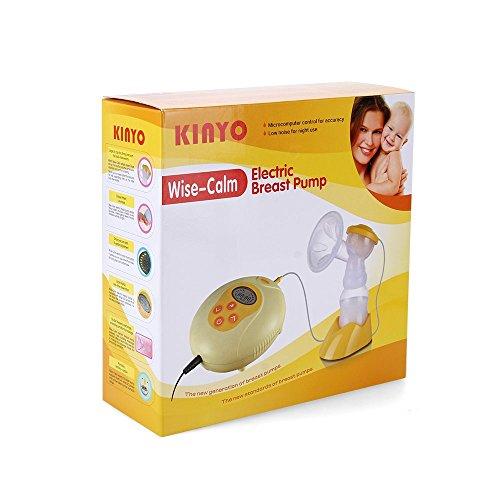 KinYo wise-calm – Set Extractor de Leche Sacaleches Eléctrico con Tecnología 9-Phase Expression, función de masaje 3-Phase