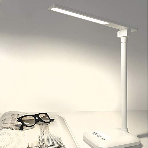 Lighfd LED Protection Eye Table Lamp, USB Charging, Three-speed dimmen, flexibel sturen Touch Switch, 1600mA Lezen Schrijven Light