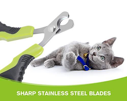 Pecute Professionelle Katze Nagelknipser Nagelschere Krallenschere Scherschneider für Katze Welpen Kaninchen und andere kleine Tiere - 2
