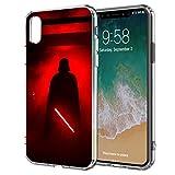 Handyhülle Jedi Star Wars kompatibel für iPhone X/Xs Dart Vader rot Schutz Hülle Hülle Bumper transparent r& um Schutz Cartoon M1