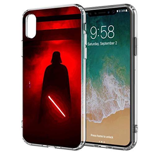 Handyhülle Jedi Star Wars kompatibel für iPhone 6 / 6s Dart Vader rot Schutz Hülle Case Bumper transparent rund um Schutz Cartoon M1