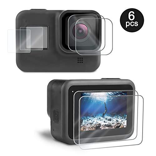 Kupton accessoires voor GoPro Hero8 zwart/waterdichte behuizing/gehard glas displaybescherming/behuizing frame beschermbehuizing case/beschermende siliconenhoes hoezen