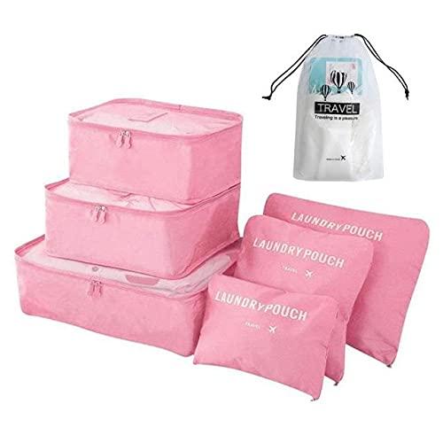 ZHYHAM 6 / 8 piezas impermeable bolsa de viaje percha maleta conjunto colcha manta maleta embalaje ordenado