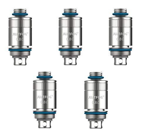 Justfog Resistenze di ricambio coil 0,8 Ohm per sigaretta elettronica FOG 1(confezione da 5 pz) prodotto senza nicotina