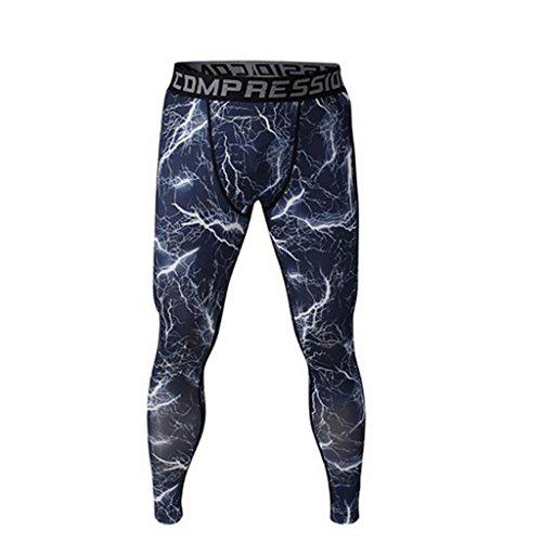 Männer Leggings lang Unterhose Unterwäsche Strumpfhose Herrenleggings Hose - Blau , S