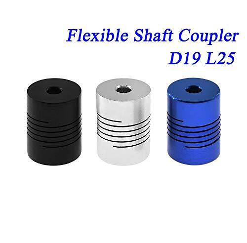 L-Yune,bolt 1Stk Jaw CNC Motor Shaft Coupler 5mm bis 8mm Flexible Kupplung OD 19x25mm...
