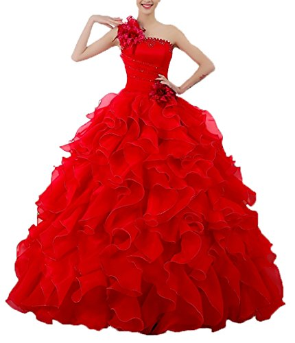 THE LONDON STORE Women's Organza A-line Beading Ruched Gown