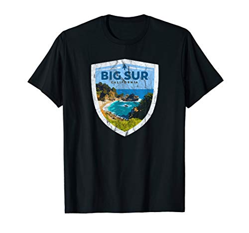 Big Sur - Northern California Vintage Logo Graphic T-Shirt