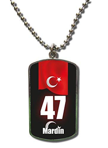 Kette Dog Tag Anhänger Türkei Mardin 47 Türkiye Plaka Fahne