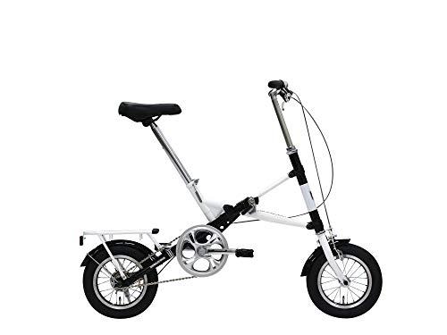 モバイリー(MOBILLY) MOBILLY ONE X型ワンタッチ折りたたみ自転車 12インチ ブラック×ホワイト 95201-0199