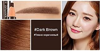 5 Colors Eyebrow Pencil Waterproof Enhancer Easy Wear Eye Brow Tint Dye Makeup Tools Dark Brown