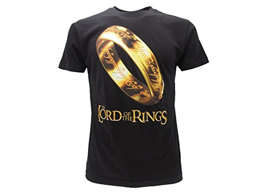 The Lord of the Rings - il Signore degli Anelli T-Shirt Originale Anello del Potere con cartellino ed Etichetta di originalità (M Adulto)