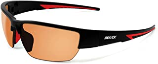 2018 Maxx Eyewear Maxx 7 Black with Red TR90 with HD Amber Lens