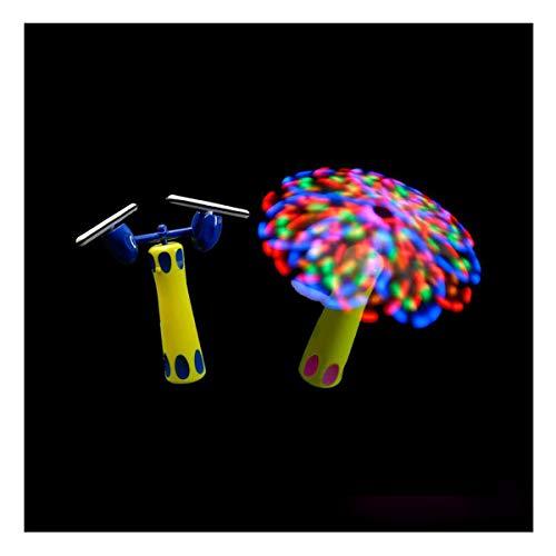 BLINXS LED Mega Wirbler Duplex / doppelter Rotor Multicolor Leuchtend - EIN tolles Lichtspiel für Party, Festival und Disko - mit austauschbaren Batterien
