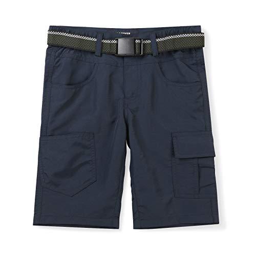 Mesinsefra Pantalones cortos de carga de secado rápido para niños y niños, cintura elástica, para actividades al aire libre, senderismo, camping, pesca, 1201 Azul, 11-12 Años