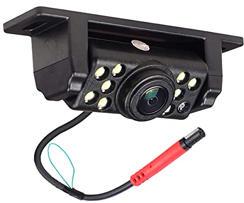 AESETEK Rückfahrkamera Rückfahrkamera mit 170 ° Weitwinkel 9 LED-Leuchten Super Clear Nachtsicht IP69 Wasserdicht mit 8 Meter Cinch-Kabel für alle Fahrzeuge