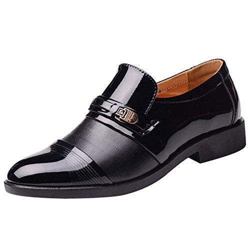 wealsex Mocassins Cuir Vernis Chaussures de Ville sans...