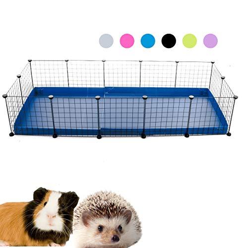 Kavee C&C Metallgitter Käfig für Kleintiere, erweiterbar, DIY, mit Bodenplatten, Freigehege, Laufstall für Haustiere, Meerschweinchen, Igel, Schildkröte 5x20