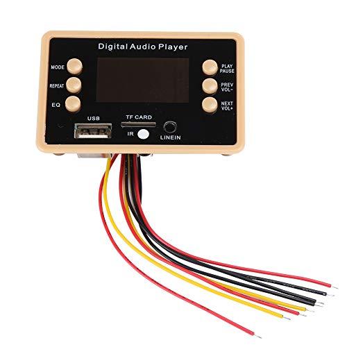 Goshyda Módulo Bluetooth, 5.0 MP3 Módulo de Reproductor de Placa decodificadora Bluetooth Decodificador Módulo Receptor de Audio estéreo con Pantalla a Color