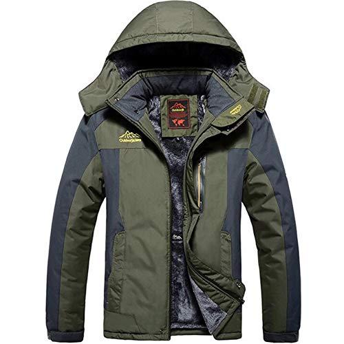 LMSDALAO Chaquetas de Invierno Winter Military Jacket Men's Windproof Waterproof Jacket Men's Windbreaker Warm Raincoat Jacket Oversized 9XL Coat