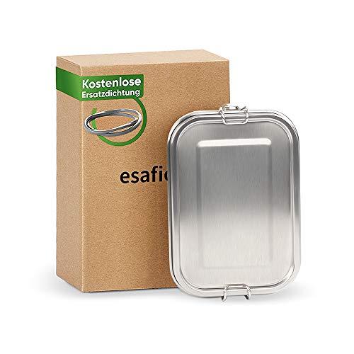 esafio Fiambrera de Acero Inoxidable 800 ml prueba de fugas,sin Plástico y BPA, Almuerzo Escolar y bocadillos para niños
