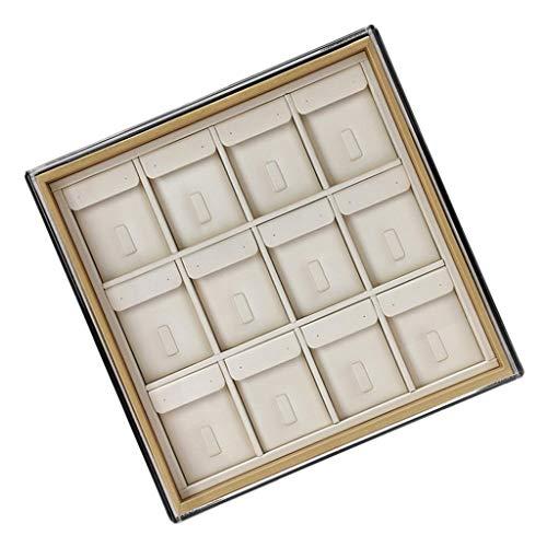 Hellery Joyero de PU Duradero con Caja Colgante de Contenedor de Anillo de Tapa para Exhibición Y Almacenamiento - 4