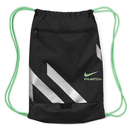 NIKE BA6410-013 NK PHANTOM GMSK Sports bag womens black/silver/(rage green) MISC