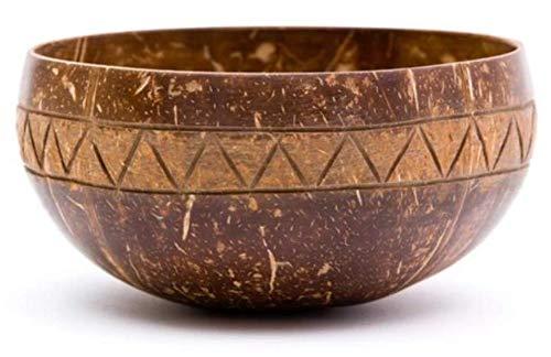 Cocovibes Coconut Smoothie Bowl - Cuenco decorativo hecho a mano, natural, sostenible