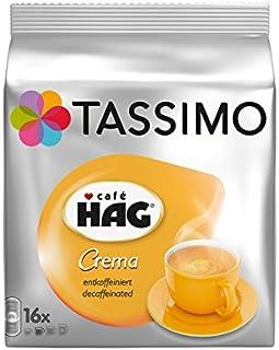 comprar comparacion Tassimo Café HAG Crema Decaffeinato Cápsulas de Café - 5 Paquetes (80 Porciones)