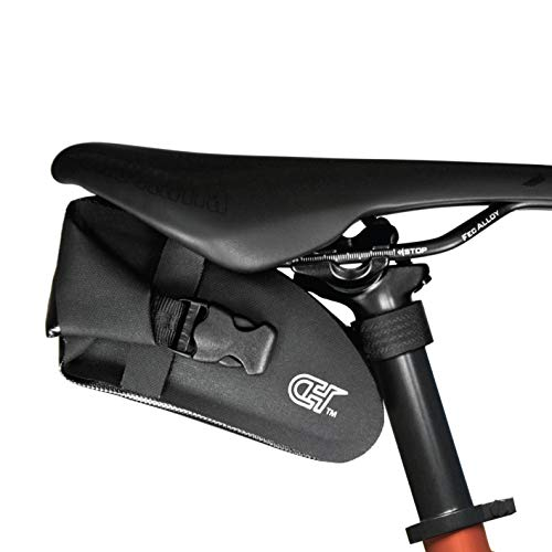 CyclingHero Compact Waterproof Seat Bag –Versatile & Stylish Saddle Wedge Pack with Room for Spare & More –Perfect for Gravel, Road, Mountain Bikes