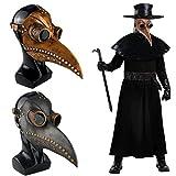ZYBB Maschera Medico della Peste Bocca di Uccelli Naso Lungo Becco Faux Latex Steampunk Maschera Maschera di Uccello in Pelle retrò per Maschera di Halloween Costume Puntelli B