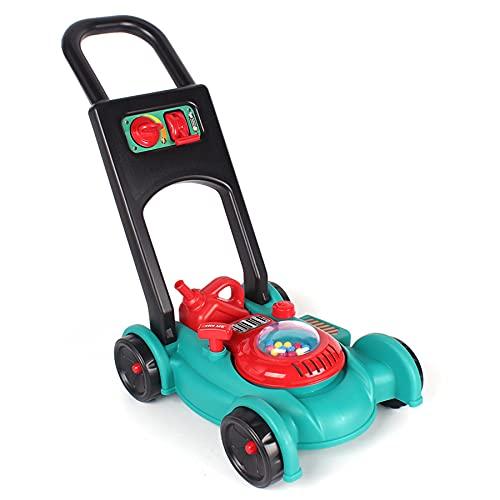 TikTakToo Kinder Benzin Rasenmäher Gartengerät mit Fahrgeräusch Spielzeug mit Funktionen