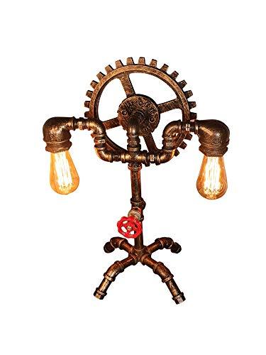 LED de la lámpara ahorro de energía retro - Hierro Robot lámpara de mesa - Steampunk del tubo de agua lámpara de escritorio - bar café Agua Tubo luminoso, E27 Interfaz