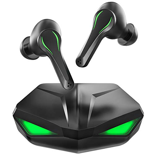 Gaming Earbuds, Zime Winner True Wireless Earphone with Mic 65ms Low-Latency TWS 12mm Driver Bluetooth Headphone for PUBG, Fortnite, Call of Duty Mobile Gamers