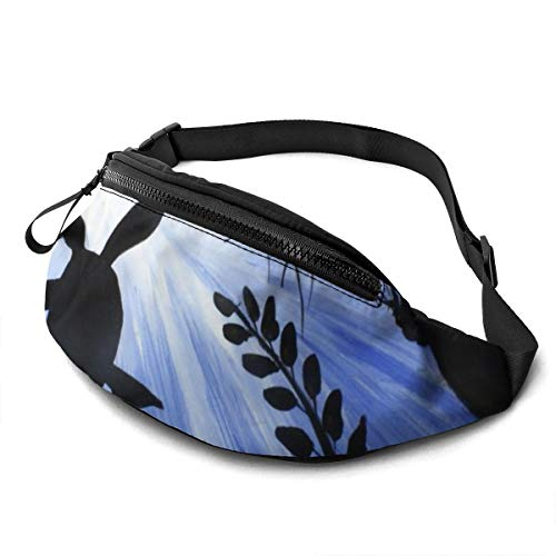 Gkf Waist Pack Bag for Men&Women, Turtle Under Lake Utility Hip Pack Bag with Adjustable Strap for Workout Traveling Casual Running