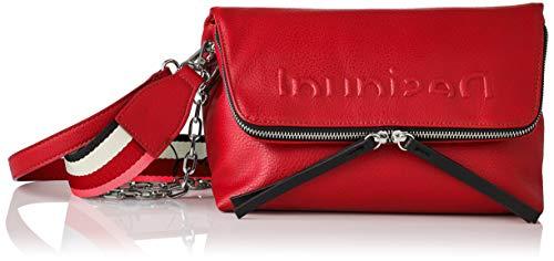 Desigual PU Body Bag, Bolsa para Cuerpo de Across para Mujer, Rojo, U