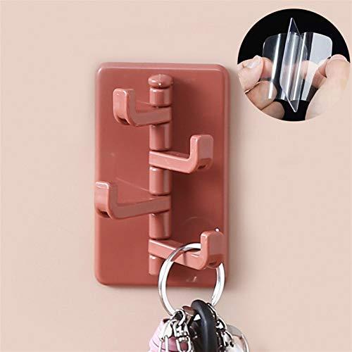 LINGNING Gancho adhesivo giratorio creativo de gancho de adhesivo nórdico de baño de baño de pared de pared a orificio libre percha de la palanca de la percha de la percha de la percha de la ropa Orga