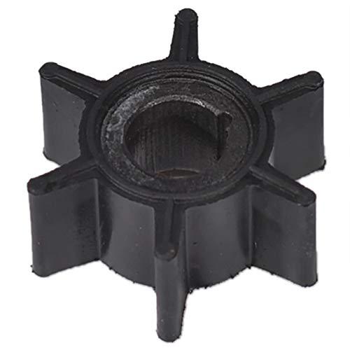 JAP768 Wasserpumpe Impeller Black Rubber for Tohatsu/Mercury/Sierra 2/2.5/3.5/4/5/6 PS Außenbordmotor 6 Blades Bootsteile & Zubehör