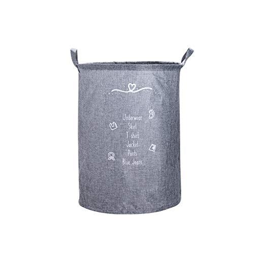 Panier de blanchisserie en tissu pliable Salle de bains Sale vêtements baril de stockage Imperméable À l'eau Panier à linge Paniers (Color : A)