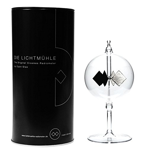 Cipin Glas Black Edition Lichtmühle Radiometer, Glas, Transparent, 8 x 8 x 16 cm