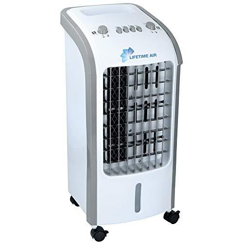 Bakaji Raffrescatore Evaporativo Umidificatore Ventilatore Aria Portatile Acqua e Ghiaccio Potenza 62W Master Dimensione 30 x 27,5 x 60 cm