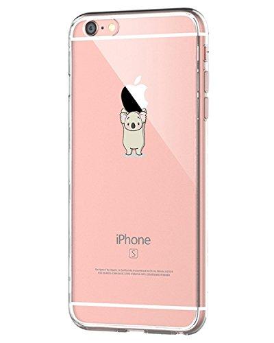 Oihxse ersatz für [iPhone 6s+] Hülle, [iPhone 6+] Handyhüllen Schutzhülle,Ultra Dünn Weiche Slim Transparent Silikon TPU Handy-Hülle Mädchen rutschfest Case für iPhone 6s Plus/6 Plus (Koala)
