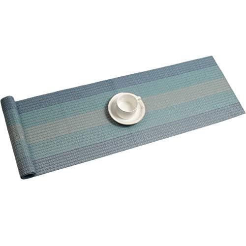 Pauwer - Camino de mesa de PVC para cocina, Vinilo tejido., Mezcla...
