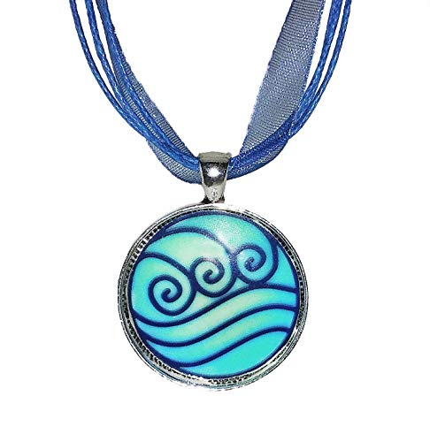 Avatar The Last Airbender Water Tribe inspired symbol GLOW IN THE DARK - Katara - Choker pendant necklace - HM