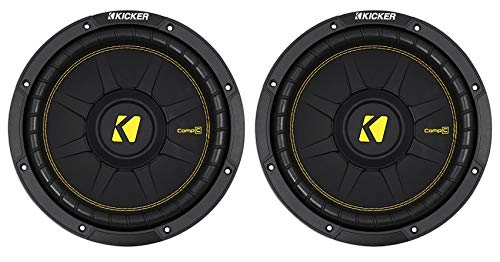 2) KICKER 44CWCD104 CompC 10' 1000w Dual 4-Ohm Car Audio Subwoofers Subs...